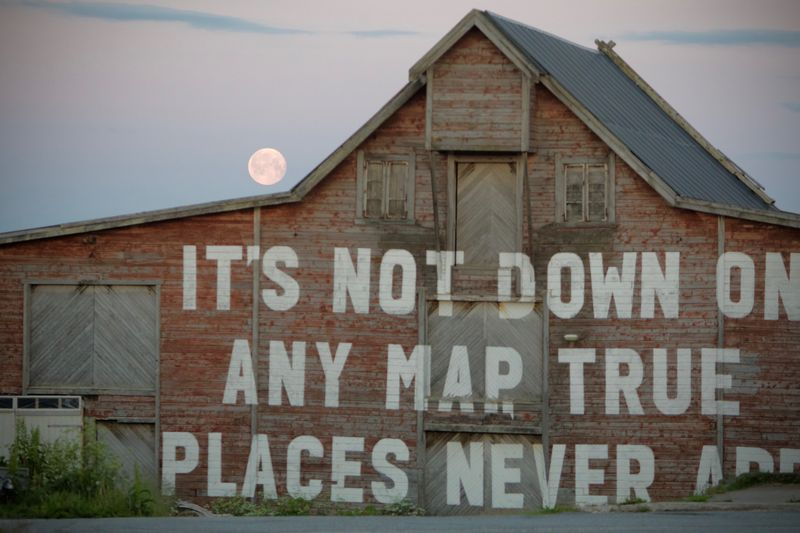 It's not down on any map. True places never are.